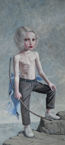 """Scout"" 2013, oil on canvas, 172x77"