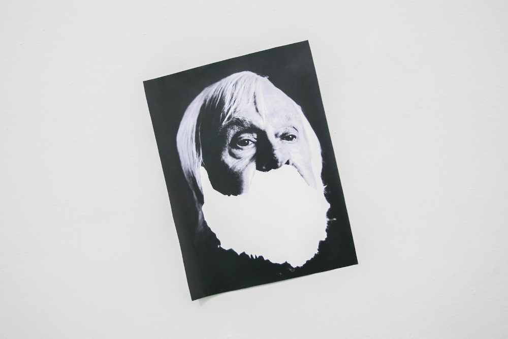 David Bernstein, From collection of conceptual artists' beards, 2013. Printed images.