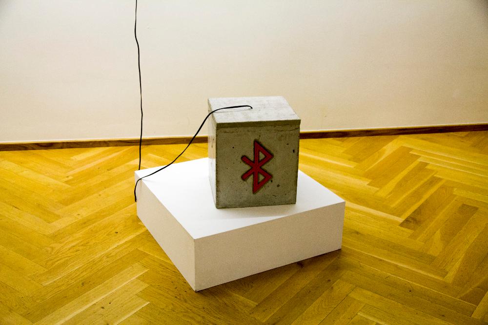 Taavi Suisalu, Digital Fossil, mixed media interactive sculpture, 2014