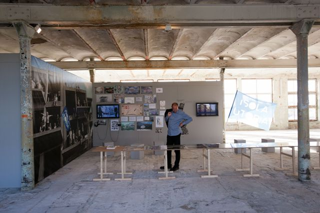 "Isola Art Centre ""Utopia Just Left the Building"", photo Didzis Grodzs"