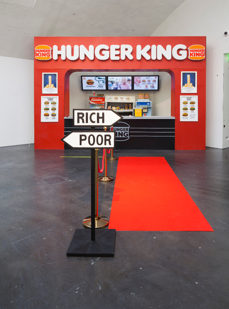 Jani Leinonen, Hunger King, 2014, installation. In possession of the artist. Photo: Finnish National Gallery / Pirje Mykkänen