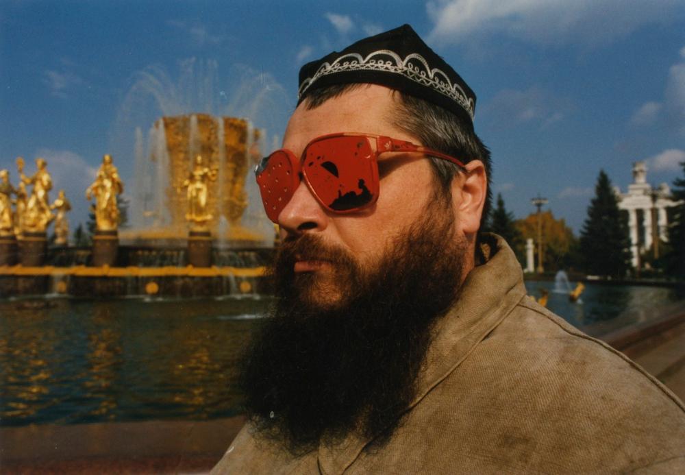 "Māra Ķimele, Hardijs Lediņš ""Farewell to the Empire""; 1991. Photo by Valts Kleins"